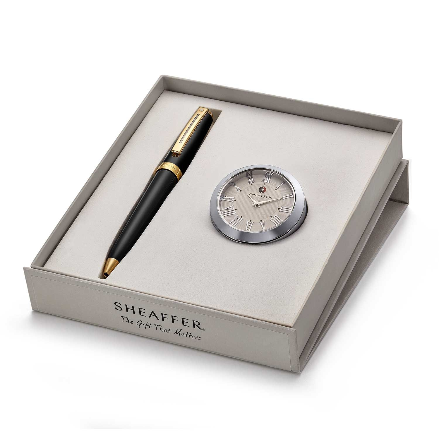 Sheaffer 346 Ballpoint Pen With Chrome Table Clock Rs. 4400