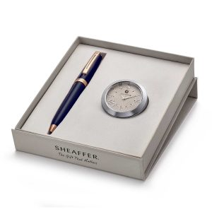 Sheaffer 9143 Ballpoint Pen With Black Table Clock
