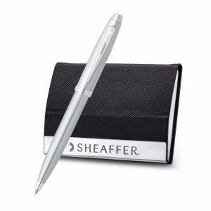 Sheaffer 9306 Ballpoint Pen With Business Card Holder