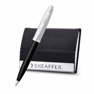 Sheaffer 9313 Ballpoint Pen With Business Card Holder