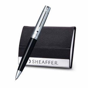 Sheaffer 9314 Ballpoint Pen With Business Card Holder
