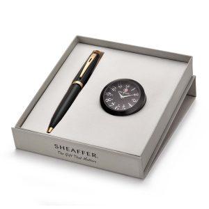 Sheaffer 9322 Ballpoint Pen With Black Table Clock