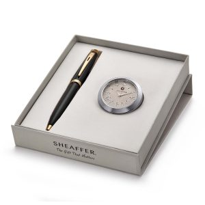 Sheaffer 9322 Ballpoint Pen With Chrome Table Clock