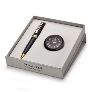 Sheffer 9325 Ballpoint Pen With Black Table Clock Rs. 2400
