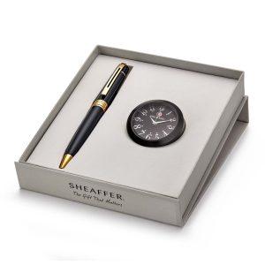 Sheffer 9325 Ballpoint Pen With Black Table Clock