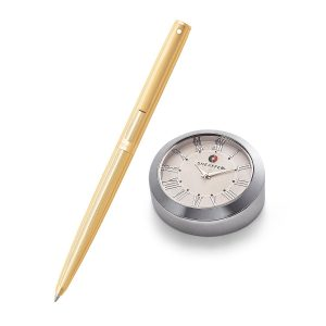 Sheaffer 9474 Ballpoint Pen With Chrome Table Clock Rs. 4200