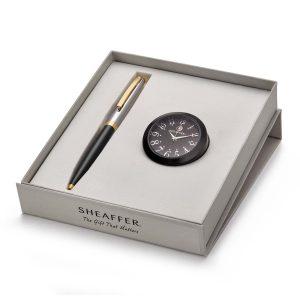 Sheaffer 9475 Ballpoint Pen With Black Table Clock