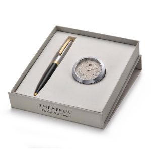 Sheaffer 9475 Ballpoint Pen With Chrome Table Clock Rs. 2400