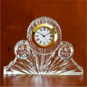 Addley Crystal Glass Desk Clock
