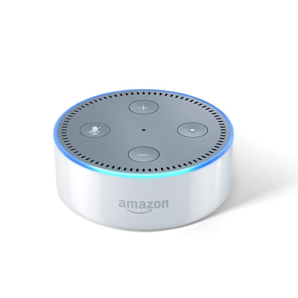 Amazon Echo Dot (2nd Gen) - Smart speaker with Alexa (White)