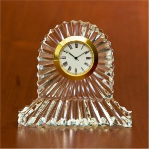 Cinderella Crystal Glass Desk Clock