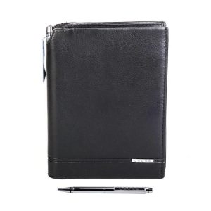 Cross - Global Passport With Pen Leather Mens Wallet - Black Price Rs. 2999