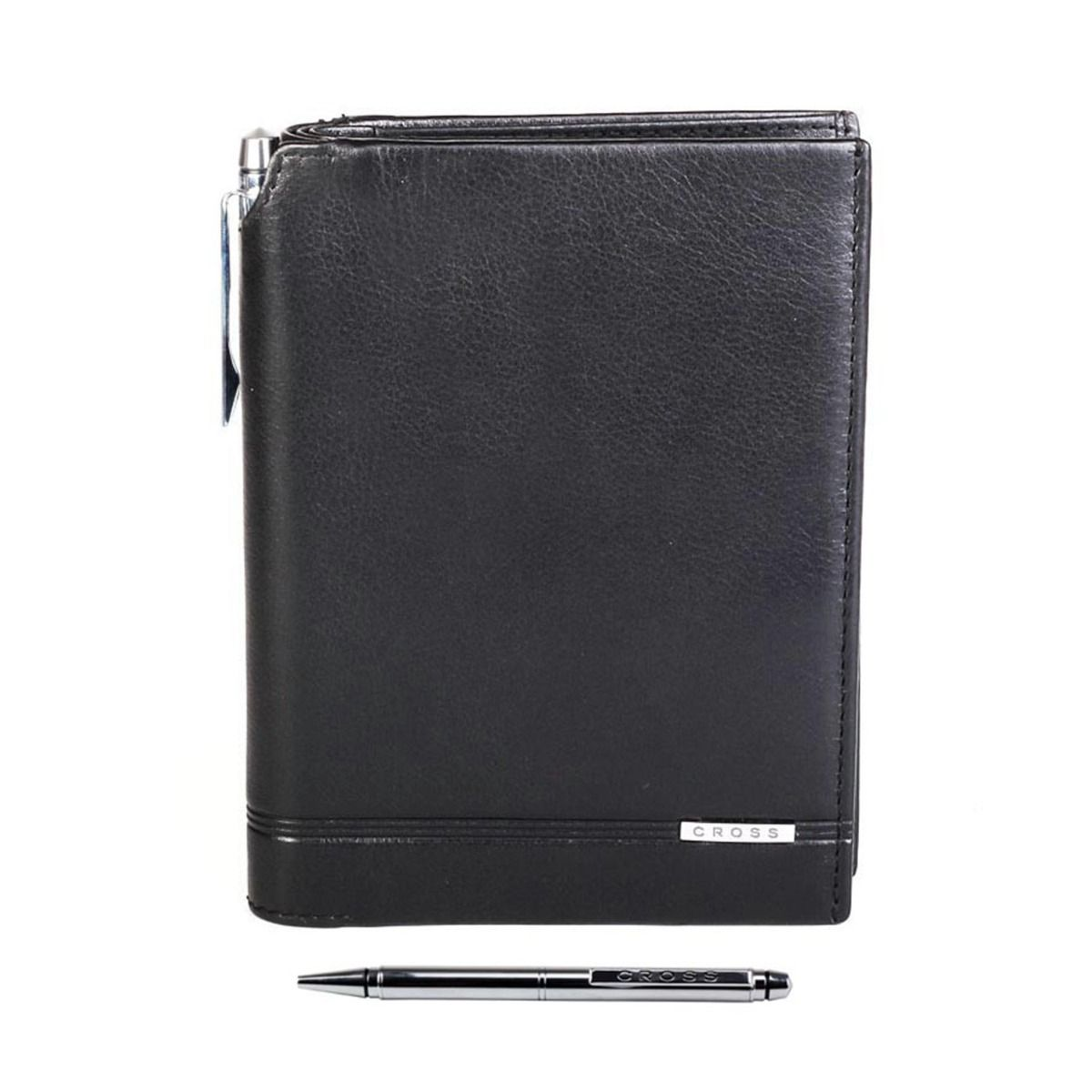 Global Passport With Pen Leather Mens Wallet - Black Price Rs. 2999