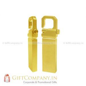 Gold Finished Keylock 1082 USB Pendrive