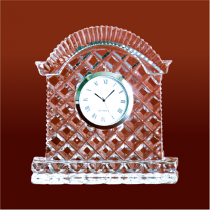 Hut Shape Crystal Glass Desk Clock