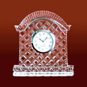 Hut Shape Crystal Glass Desk Clock