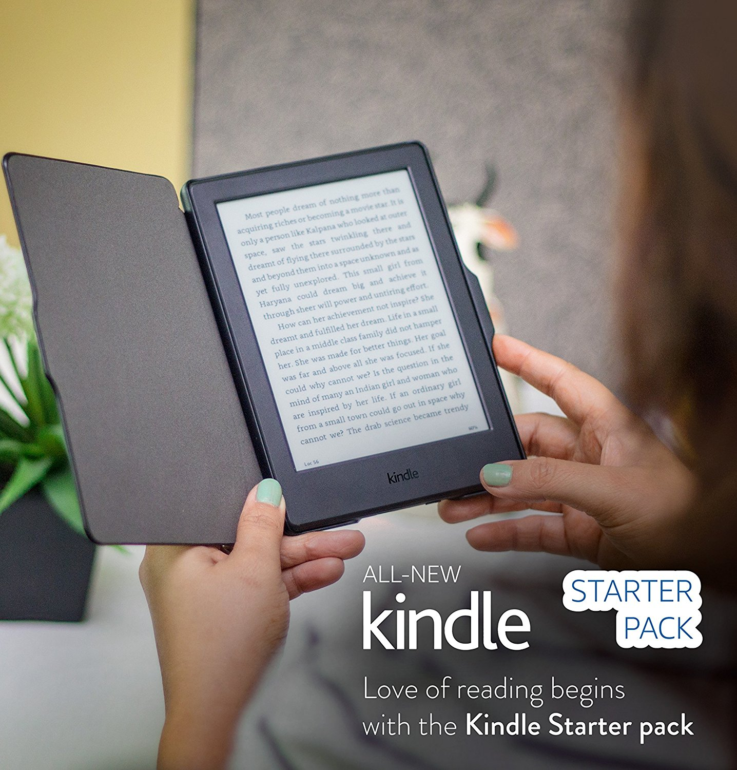 Kindle Starter Pack with All-New Kindle E-Reader in Black (MRP Rs 5,999), NuPro SlimFit Cover for Kindle (MRP Rs 999)