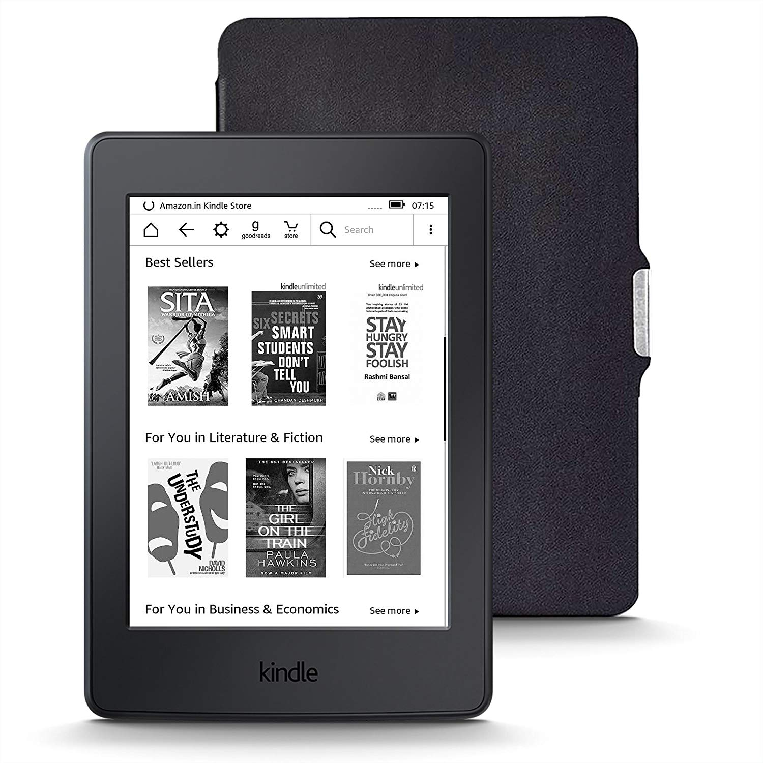 Kindle Starter Pack with Kindle Paperwhite WiFi E-Reader in Black (MRP Rs 10,999), NuPro SlimFit Cover for Kindle Paperwhite (MRP Rs 1,299)