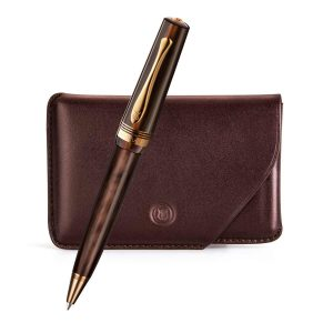 Lapis Bard - Windsor Emperador Ballpoint Pen With Card Holder Rs. 11500