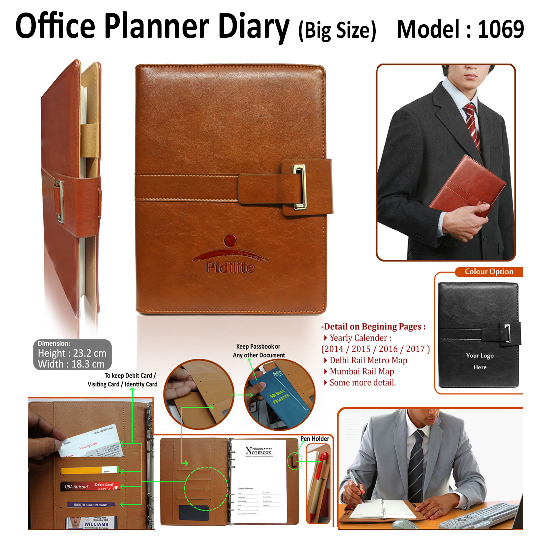 office planner diary organizer h 1069 corporate promotional