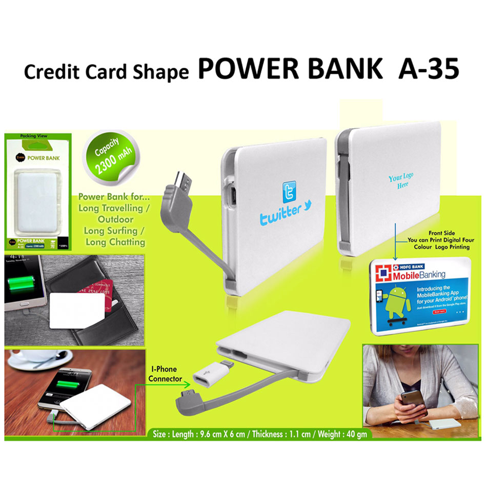 9da53d753e06b1 Powerbank A-35 - 2300mah » Corporate Promotional Gifts Giveaways ...