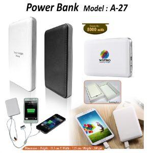 Powerbank A27 - 8000mah