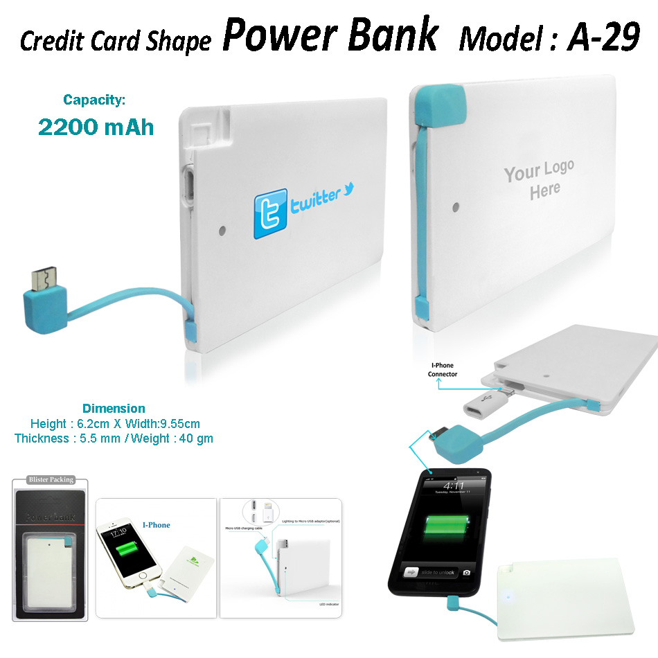 Power Bank A29 2200mah