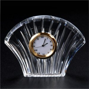 Sansu Crystal Glass Desk Clock