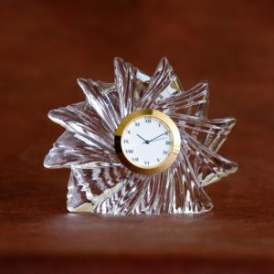 Sunflower Crystal Glass Desk Clock