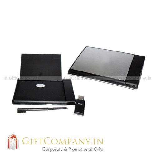 3 in 1 - Card Holder, Pen & USB Pendrive