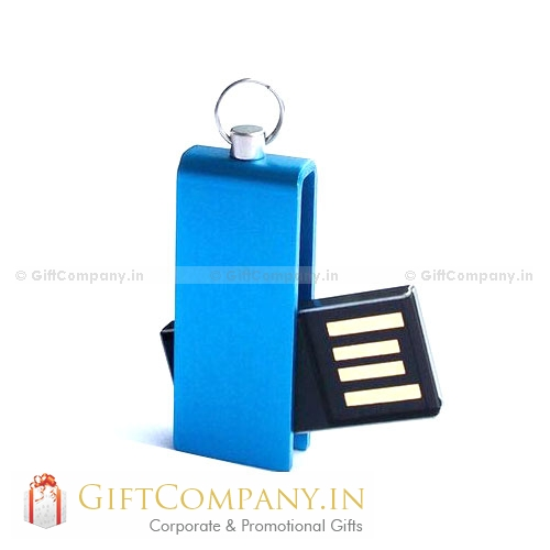 Mini Swivel USB Pendrive with Keyring