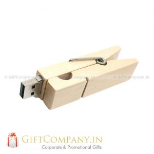 Wooden Clip-on USB Pendrive
