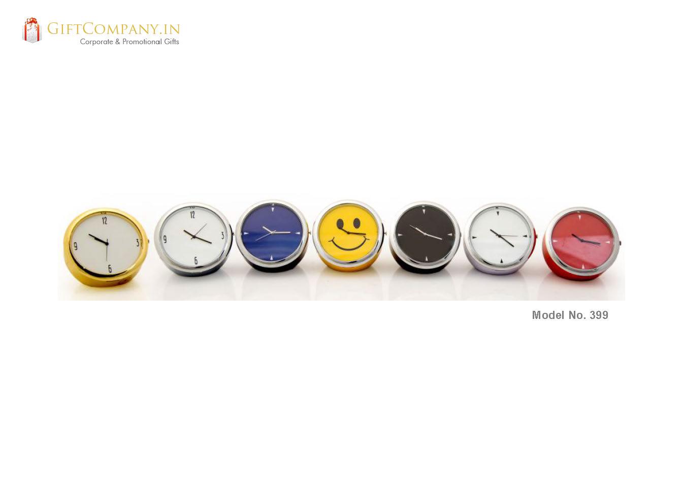 Colors Mini Desktop Clock, Small - Model 399