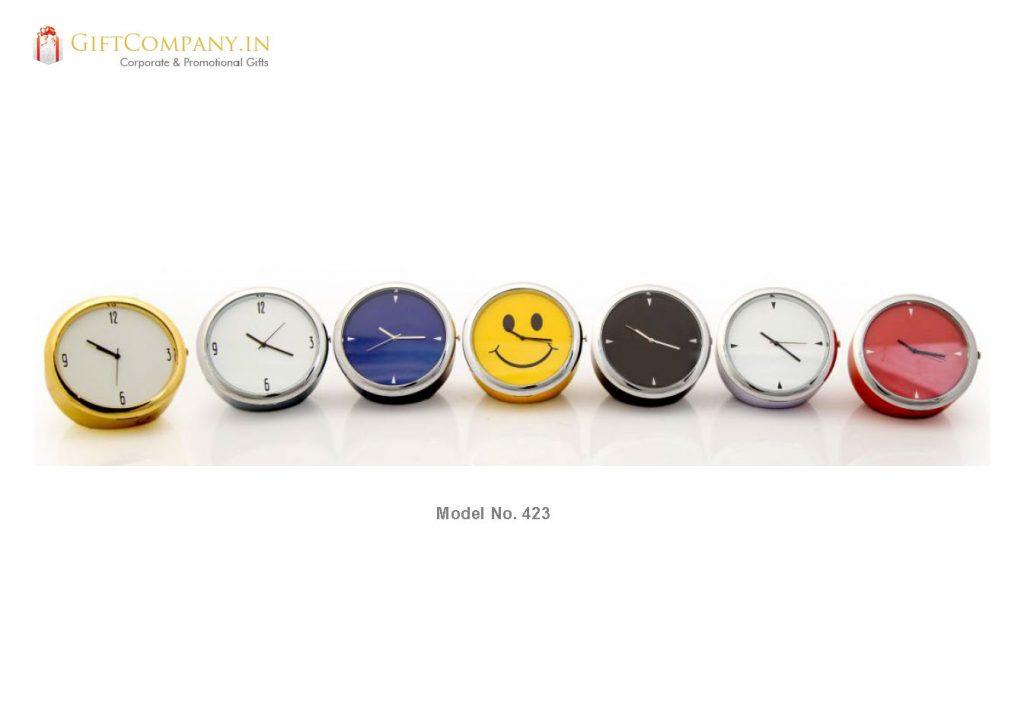 Colors Mini Desktop Clock, Big - Model 423