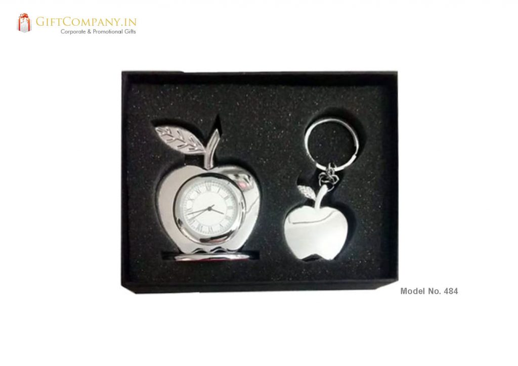 Gift Set - Apple Key Chain and Clock