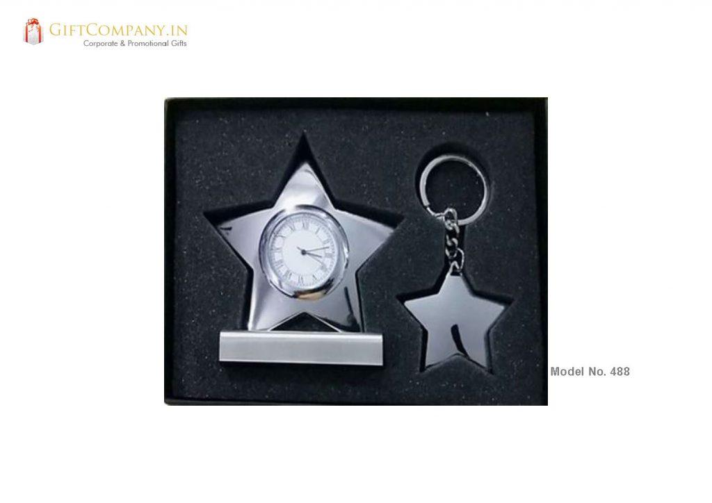 Gift Set - Star Clock and Key Chain