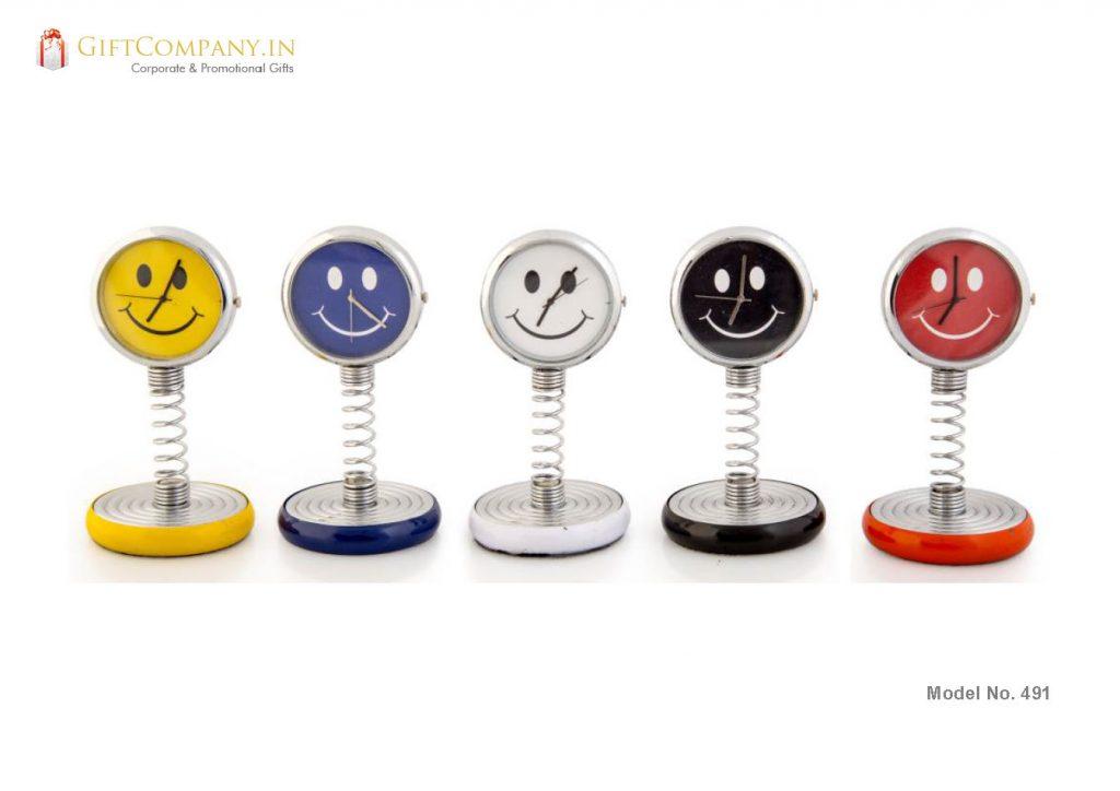Spring Smiley Desk and Car Clock