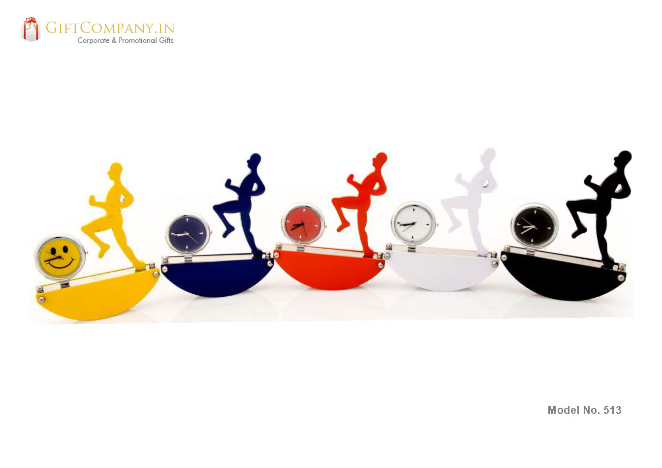Marathon Runner Desk Clock Sea Saw