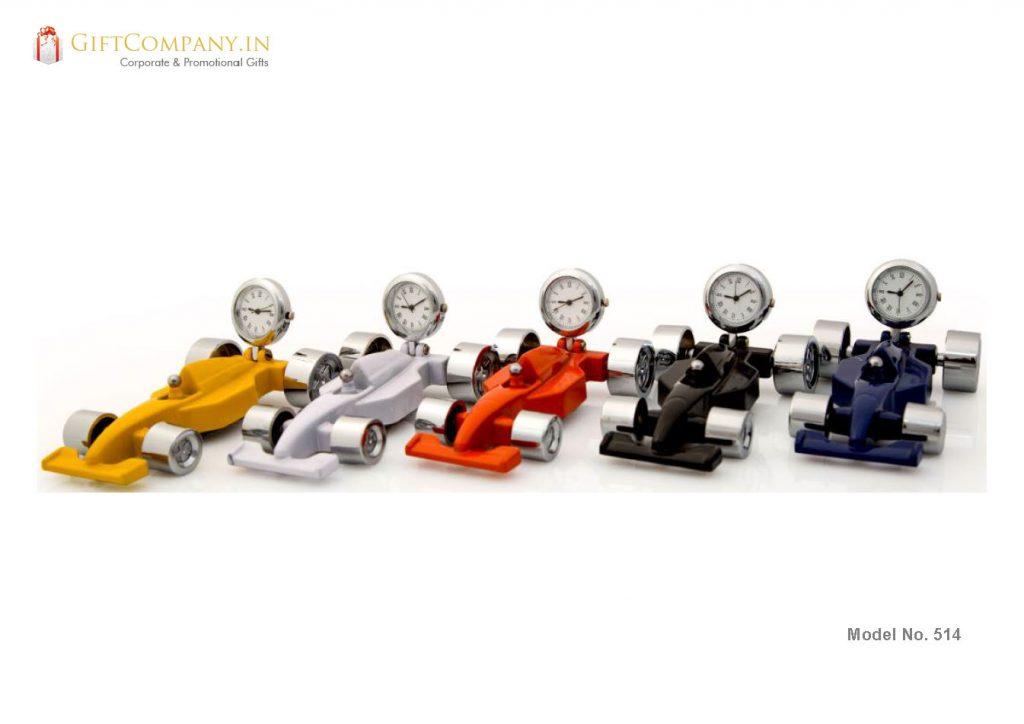 Miniature Racing Car Model Clock