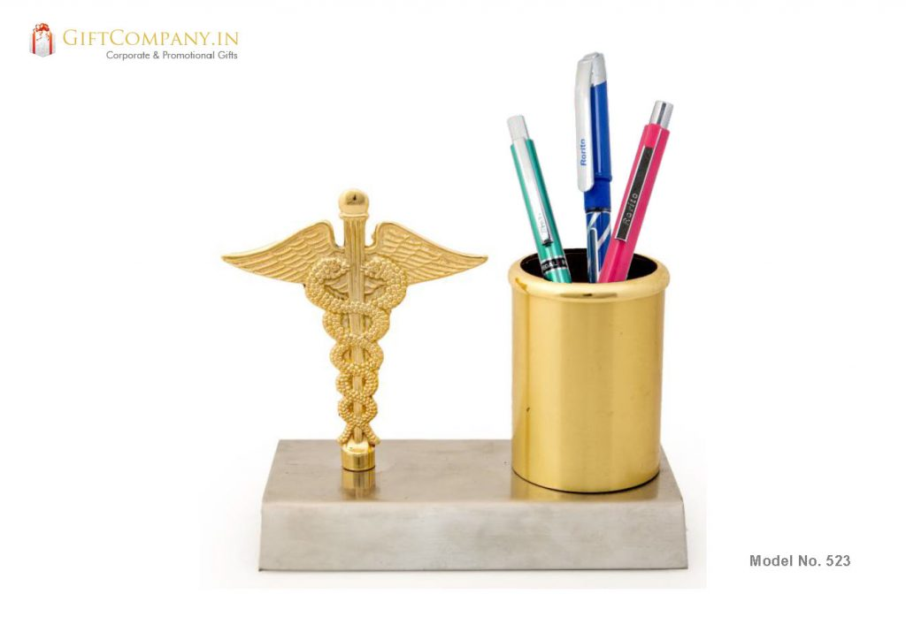 Doctor Sign Pen Stand - Gold