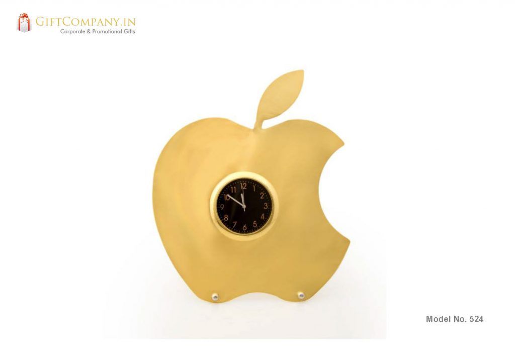 Gold Apple Clock