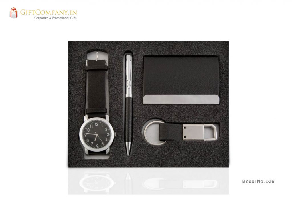 Gift Set - Wrist Watch, Keychain, Pen and Card Holder