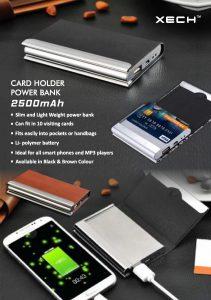 Card Holder with Powerbank - 2500mah