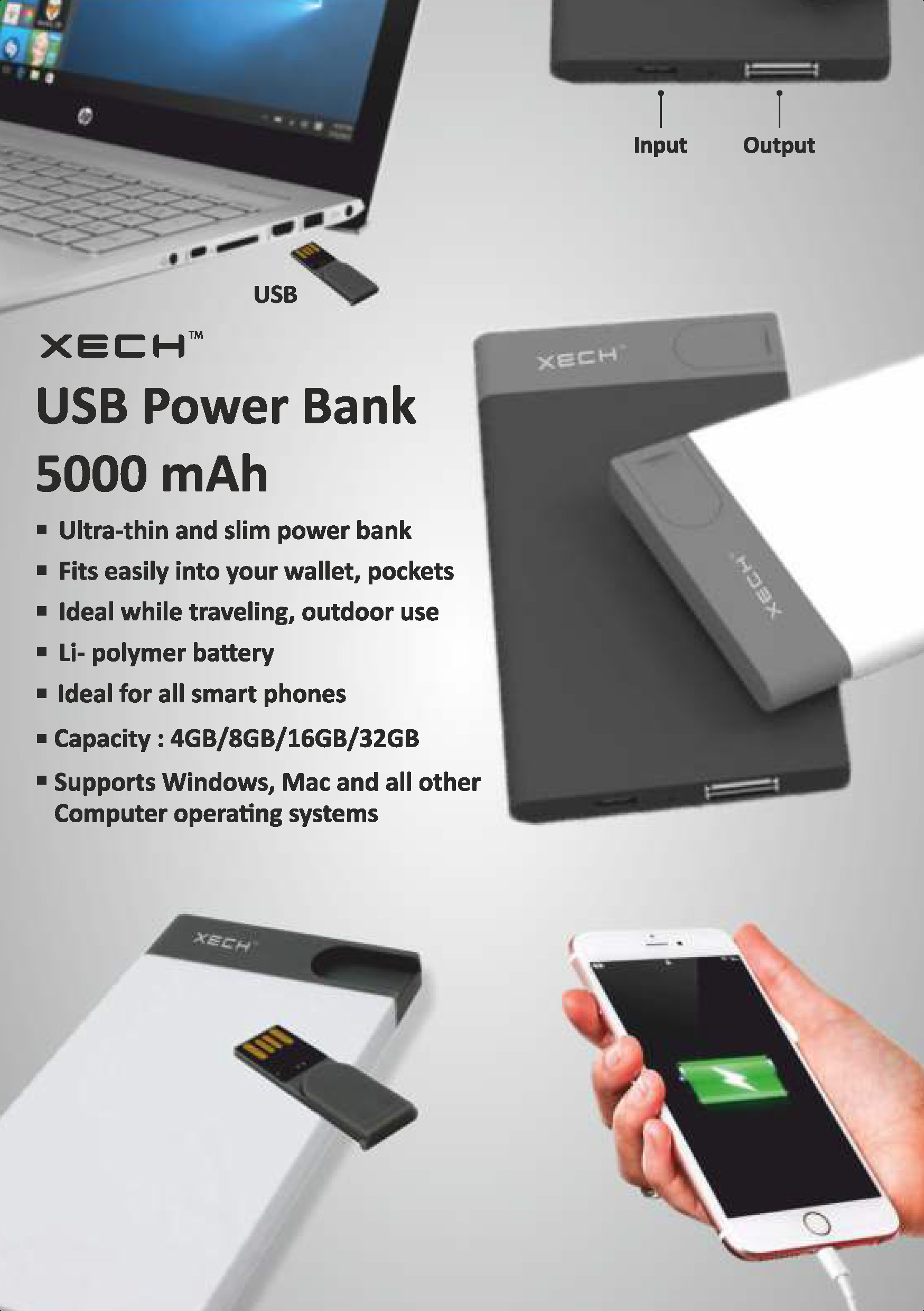 5000mah Powerbank with USB