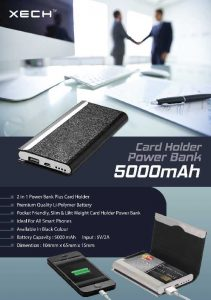 Card Holder with Powerbank - 5000mah