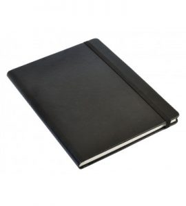 A5 Personal Notebook Elastic - Black