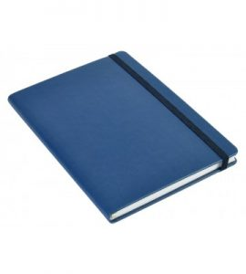 A5 Personal Notebook Elastic - Blue