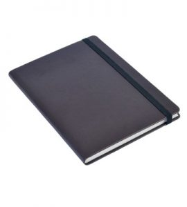 A5 Personal Notebook Elastic - Dark Brown