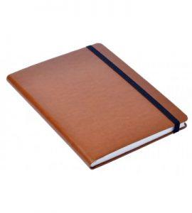 A5 Personal Notebook Elastic - Tan