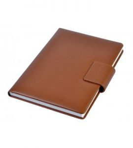 A5 - Personal Notebook with Magnetic Flap - Tan
